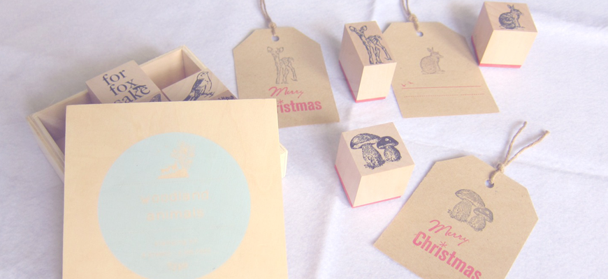 Woodland Animal Typo Stamps