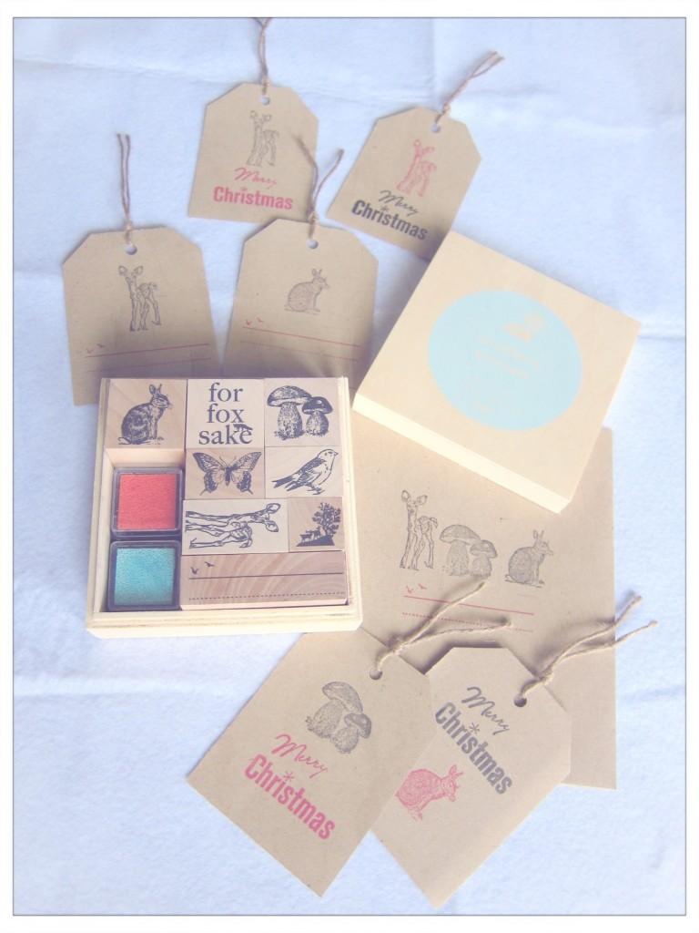 Woodland Animal Typo Stamps