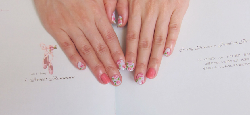 Summer Blossom Nails 2014
