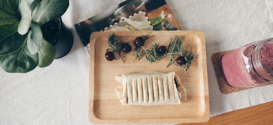 Kimchi Wrap using sandwich maker